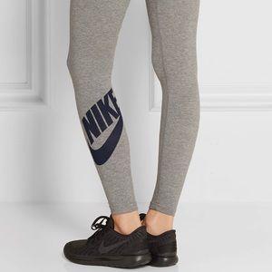 NIKE Gray Leg-A-See Stretch Cotton Leggings